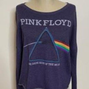 Pink Floyd Graphic Cropped Crew Neck Sweatshirt Sz
